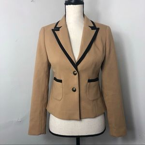 [SOLD] LOFT Double Button Brown Black Trim Blazer